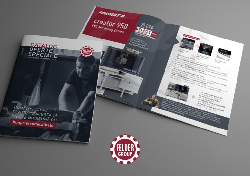 DTP Design Catalogue Felder Group mobile