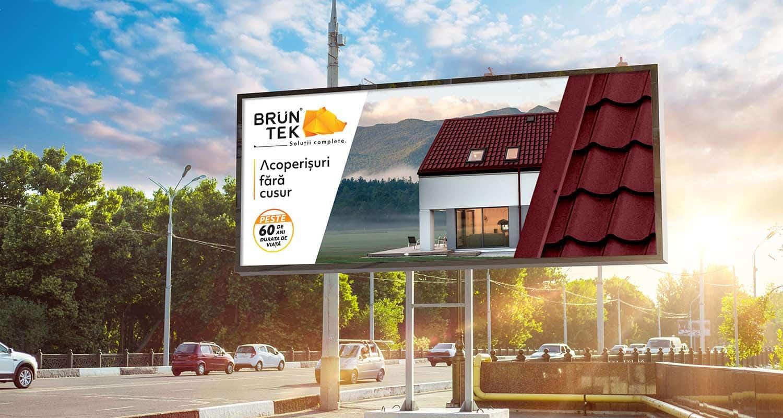 Billboard,Canvas,Mock,Up,In,City,Background,Beautiful,Sunshine